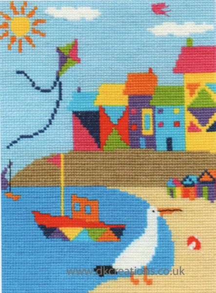 Beach Houses Cross Stitch Kit